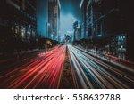 hong kong city street view at... | Shutterstock . vector #558632788