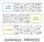 vector line web concept for... | Shutterstock .eps vector #558636532