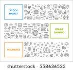 vector line web concept for... | Shutterstock .eps vector #558636532