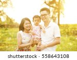 portrait of happy family... | Shutterstock . vector #558643108