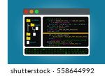the editor of the code  the... | Shutterstock .eps vector #558644992