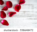 Stock photo rose on wooden background valentines day background 558648472