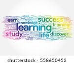 learning word cloud collage ... | Shutterstock .eps vector #558650452