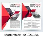 abstract vector modern flyers... | Shutterstock .eps vector #558653356