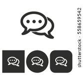 chatting   black and white... | Shutterstock .eps vector #558659542