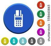 pos terminal round color... | Shutterstock .eps vector #558660865