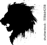 lion head tattoo 4 | Shutterstock .eps vector #558664258