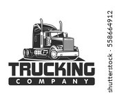 big truck car logo illustration ... | Shutterstock .eps vector #558664912