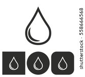 oil   black and white icons.... | Shutterstock .eps vector #558666568