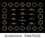 gold vintage decor elements and ... | Shutterstock .eps vector #558670102
