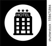 hotel icon | Shutterstock .eps vector #558671866