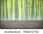 wooden board empty table in... | Shutterstock . vector #558672742