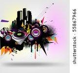 music urban vector | Shutterstock .eps vector #55867966