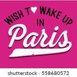 paris hand drawn vector... | Shutterstock .eps vector #558680572