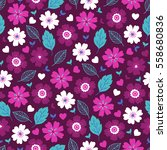 valentine seamless pattern with ... | Shutterstock .eps vector #558680836