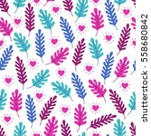 valentine seamless pattern with ... | Shutterstock .eps vector #558680842