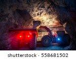 gold mining underground | Shutterstock . vector #558681502