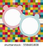it's twins baby shower... | Shutterstock .eps vector #558681808