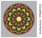 vintage colorful mandala with... | Shutterstock .eps vector #558685522