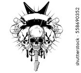vector illustration three skull ... | Shutterstock .eps vector #558690352