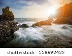 beautiful sea scape photography ... | Shutterstock . vector #558692422