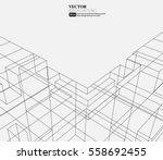 line structure pattern...   Shutterstock .eps vector #558692455