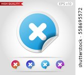 colored icon or button of cross ... | Shutterstock .eps vector #558695572