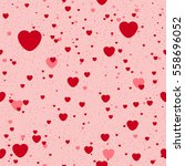 seamless background with heart. ... | Shutterstock .eps vector #558696052