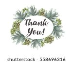 greeting card flowers... | Shutterstock . vector #558696316