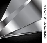 abstract metal texture tech... | Shutterstock .eps vector #558699142