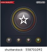 colored icon or button of star... | Shutterstock .eps vector #558701092