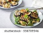 Roast Aubergine And Quinoa Salad