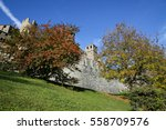 the fenis castle in aosta... | Shutterstock . vector #558709576