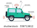self driving suv car isolated... | Shutterstock . vector #558713812
