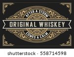 retro whiskey label. vector... | Shutterstock .eps vector #558714598