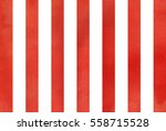Watercolor Red Striped...