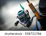 fishing reel  blurred... | Shutterstock . vector #558721786