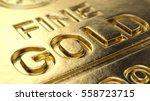 Stock photo fine gold bar macro d illustration 558723715