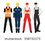 vector illustration of worker... | Shutterstock .eps vector #558732175