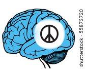 dark and light blue human brain ...   Shutterstock .eps vector #55873720
