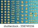 gold ribbon banner label vector ... | Shutterstock .eps vector #558749236
