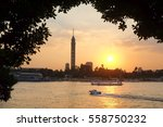Sunset Over Nile River   Cairo...