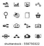 data analytic vector icons for... | Shutterstock .eps vector #558750322