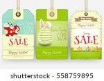 easter sale tags in retro style.... | Shutterstock .eps vector #558759895