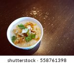 cub chicken congee for breakfast | Shutterstock . vector #558761398