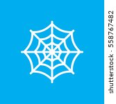 spider web icon illustration... | Shutterstock .eps vector #558767482