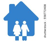 family house glyph icon. flat...   Shutterstock . vector #558772408