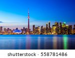 toronto city skyline and... | Shutterstock . vector #558781486