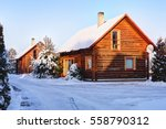 traditional wooden house in the ... | Shutterstock . vector #558790312