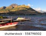 boats at san pablo lake ... | Shutterstock . vector #558798502